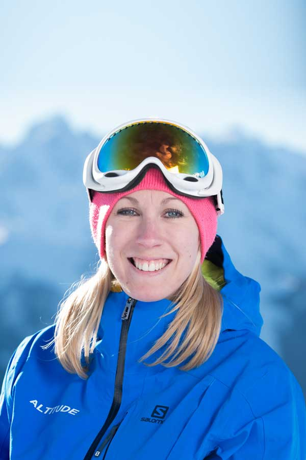 Ski instructor Laura Turner